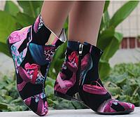 Женские ботинки разноцветные