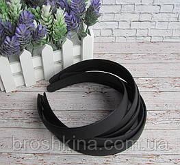 Обручи для волос каучук черные ширина 2 см 12 шт/уп