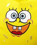 Детское Кресло, бескаркасное мешок-груша, пуф детский Губка Боб, фото 2