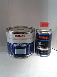 Грунт акриловый Ranal S-2000HS 5+1 черный 0,4л+0,08л. отвердитель