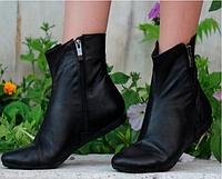 Женские ботинки черные демиссезонные