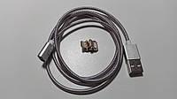 Tigran Club Магнитный кабель USB 3в1 (Micro-USB/ USB Type-C/Lightning) Silver, BOX (Гарантия 12 мес, коробка)