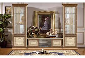Шкаф-витрина однодверный Палермо Италия беж