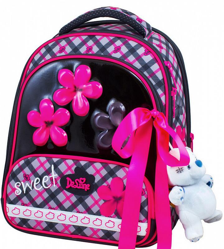 fe1d8430f47a Ранец школьный рюкзак детский ортопедический для девочек фабричный Бренд  DeLune 9-113 + мешок +