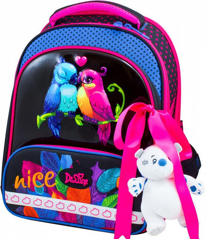 9881163e57f0 Ранец школьный рюкзак детский ортопедический для девочек фабричный Бренд  DeLune 9-114 + мешок +