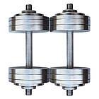Гантели 2 по 20 кг разборные металлические + 2 ПОДАРКА домашние наборные для дома, фото 7