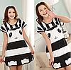 Домашнее платье с принтом ANNA  (40 размер,  размер S )