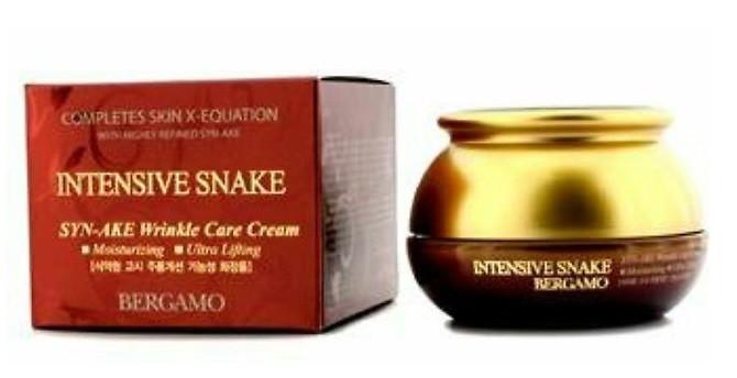 Антивозрастной крем для лица со Змеиным ядом Bergamo Intensive Snake SYN-AKE Wrinkle Care Cream, 50ml