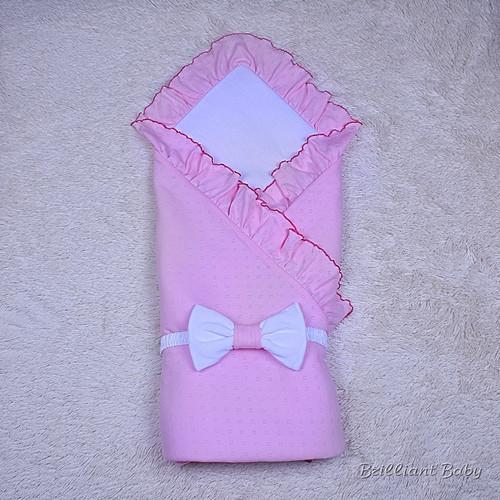 """Летний конверт-плед """"Нежность"""", розовый"""