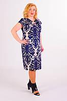 Элегантное летнее легкое котоновое платье для пышных модниц