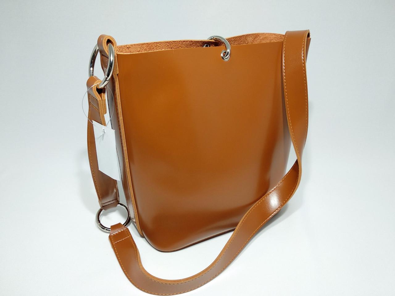 120ffd70bf1c Женская вместительная сумка мешок на плече новинка, гладкая на ощупь  коричневая , цена 501 грн., купить в Умани — Prom.ua (ID#696340986)