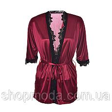 Атласный халат Exclusive Домашняя одежда, фото 3