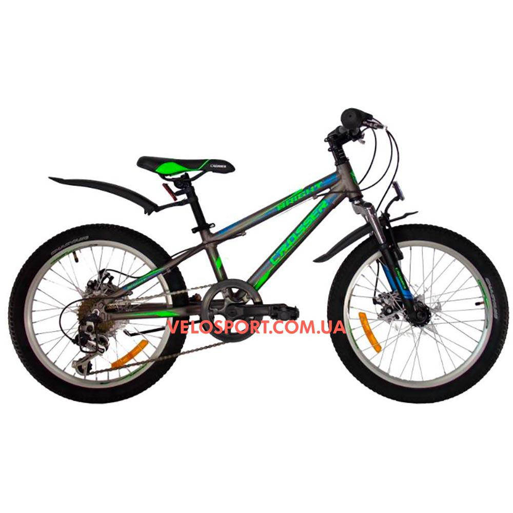 Детский велосипед Crosser Bright 20 дюймов серый