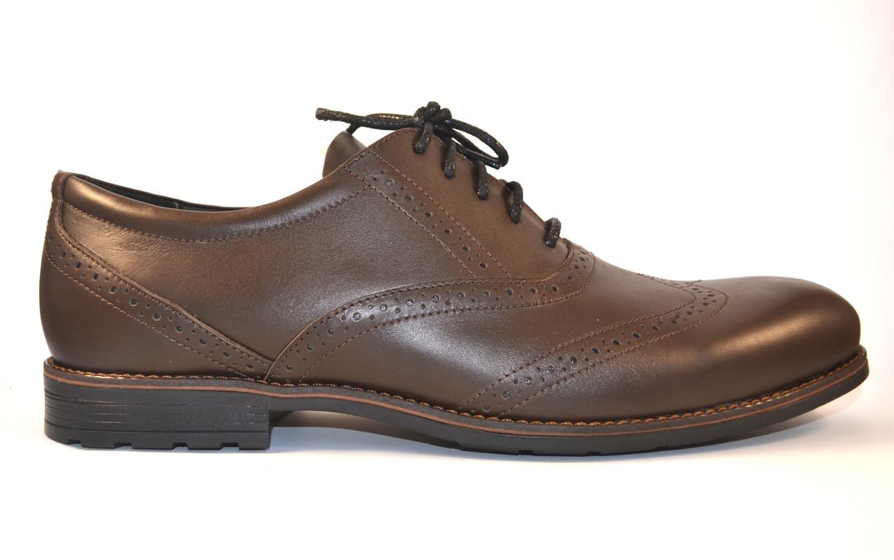 Туфли мужские броги оксфорды кожа коричневые Rosso Avangard Felicite Brown Leather коричневые, фото 1