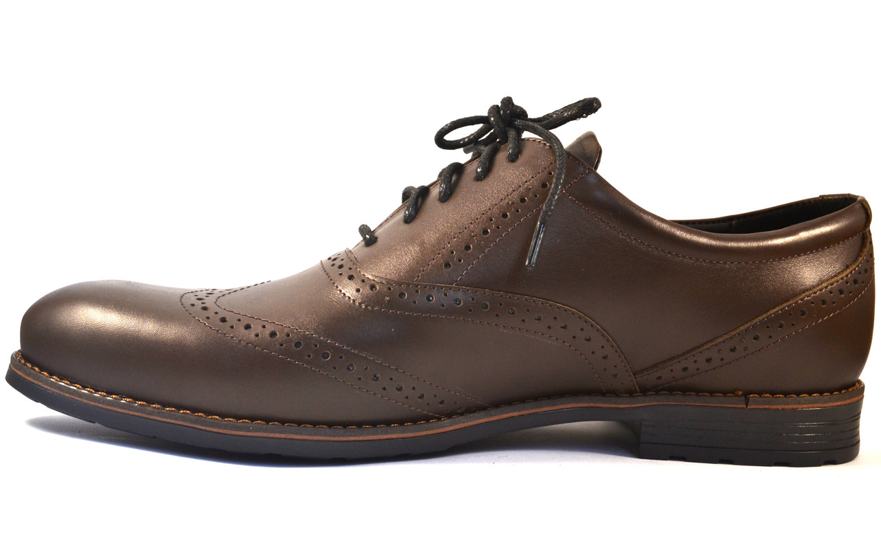56d7313c8 Большой размер туфли мужские броги оксфорды кожа коричневые Rosso Avangard  BS Felicite Brown Leather