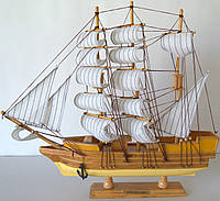 Парусник сувенирный, деревянный 43 см * 7 см * 39 см(высота)  FJ45A2