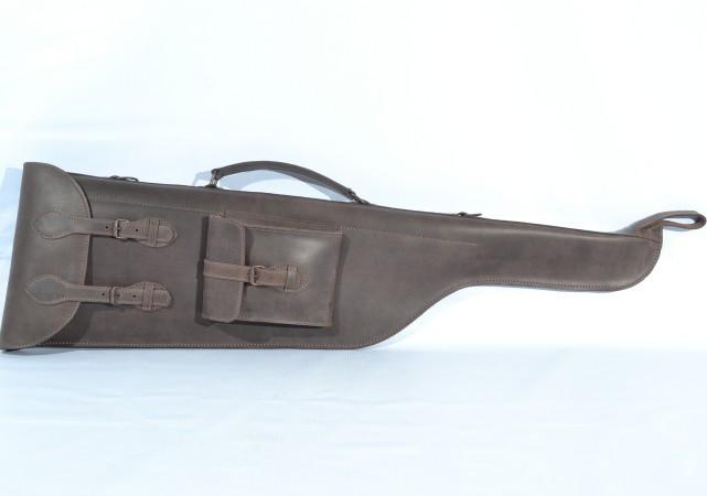 Чехол для ружья 90см кожа Ретро коричневый 10400/2