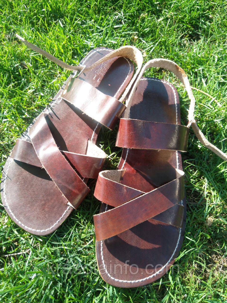Сандалии мужские кожаные. Выбор размеров.  Босоножки, сандали натуральная кожа , фото 1