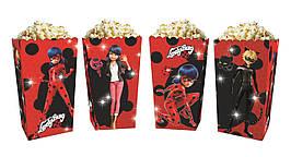 Коробки для сладостей и попкорна Леди Баг (5 штук)