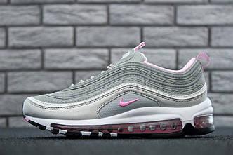 Кроссовки Nike Air Max 97 Grey/Pink Рефлективные, найк аир макс 97 36