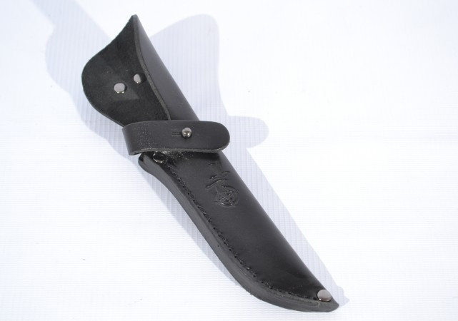 Чехол для ножа малый конверт шитый кожаный  5263