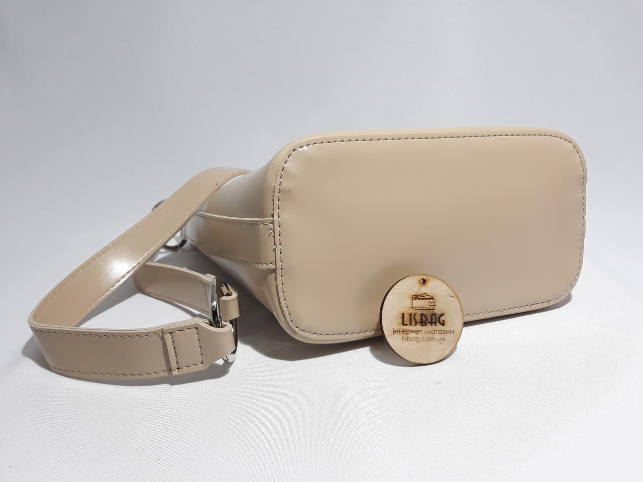 0b98da49c756 Женская вместительная сумка мешок на плече новинка, гладкая на ощупь  бежевая, цена 501 грн., купить в Умани — Prom.ua (ID#696355265)