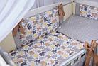 Комплект постельного белья Asik Слоники бежевые и серые 8 предметов (8- 289), фото 2