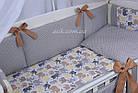 Комплект постельного белья Asik Слоники бежевые и серые 8 предметов (8- 289), фото 3
