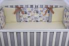 Комплект постельного белья Asik Слоники бежевые и серые 8 предметов (8- 289), фото 6