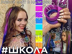 🌈 Цветные пряди как у Ники (Школа) волос на заколках