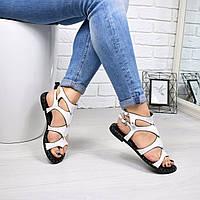 Босоножки женские Roma белый 4730, летняя обувь