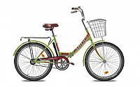 Велосипед дорожный  FOLD 24 new с корзиной