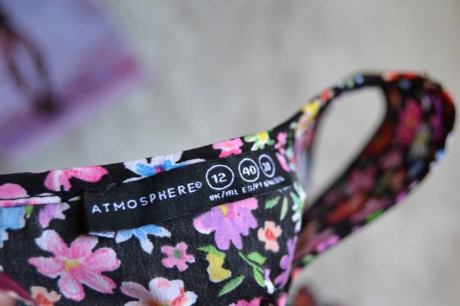Легкое цветочное платье с кружевом на талии Atmosphere, фото 2