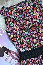 Легкое цветочное платье с кружевом на талии Atmosphere, фото 3