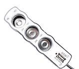Разветвитель прикуривателя 12/24V 3 гнезда + 1 USB, фото 3