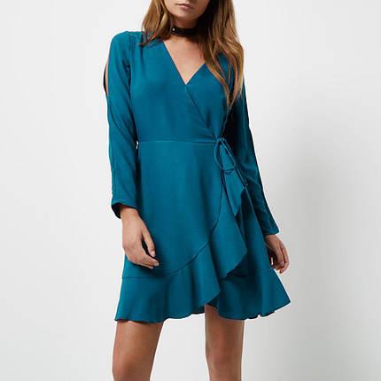 Новое платье с разрезами на рукавах и на запАх River Island, фото 2