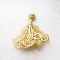 Волосы для кукол волнистые концы в трессах, пепельный теплый блонд  - 15 см