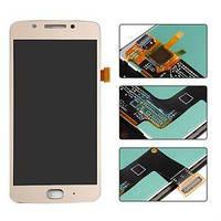 Дисплей (экран) для Motorola XT1670 Moto G5/XT1672/XT1675/XT1676 + тачскрин, золотистый