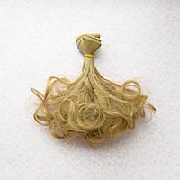 Волосы для кукол волнистые концы в трессах, холодный русый  - 15 см