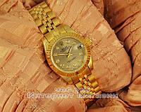Женские наручные часы Rolex Oyster Perpetual Datejust Gold Dimond реплика механика с автоподзаводом Япония