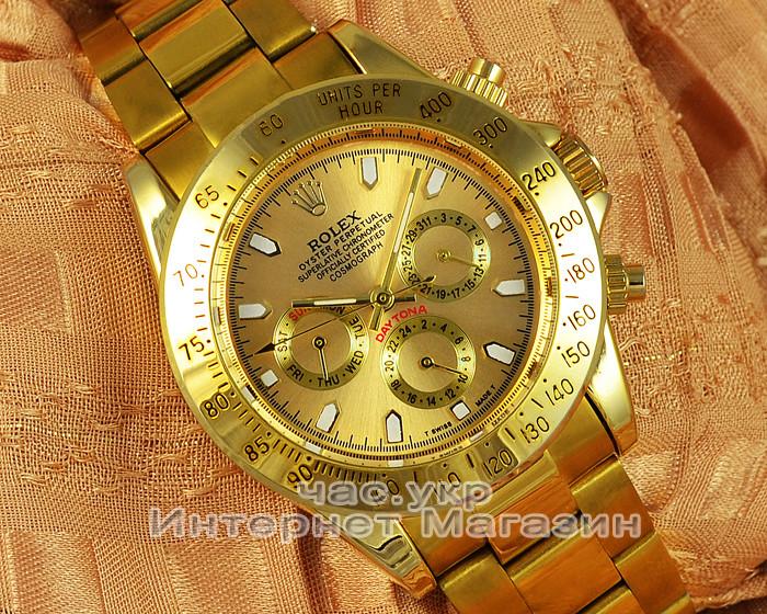Наручные часы Rolex Daytona Gold Gold реплика часы как у физрука Фомы  мужские наручные часы классика 112127d226f49