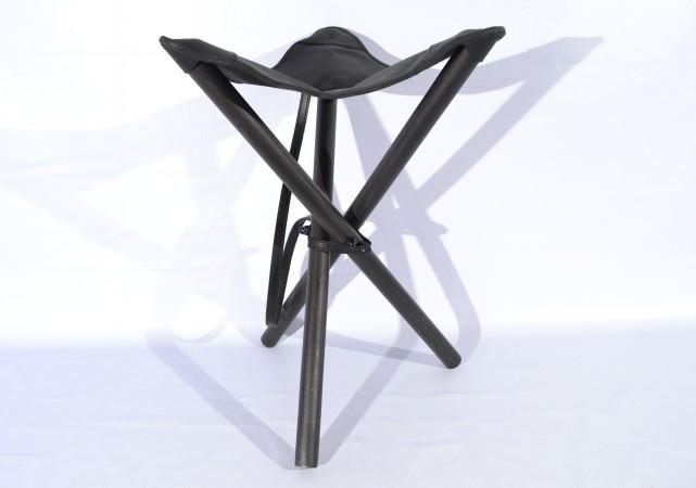 Стул раскладной 60 см кожа Ретро черный 10050/1