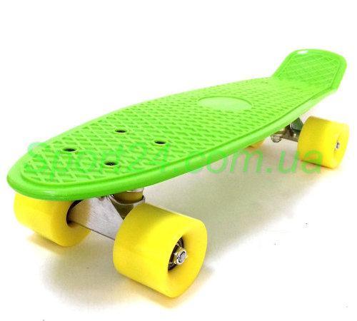 Зеленый пенни борд (Penny Board) (PVC аморт, до 60 кг)