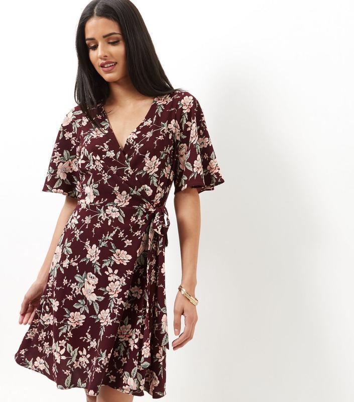 Цветочное платье на запАх New Look