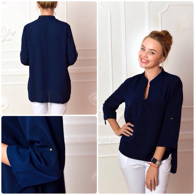 Блуза женская, модель 749, цвет - синий