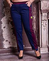 Женские джинсы в батальных размерах с ломпасами 10BR711, фото 1