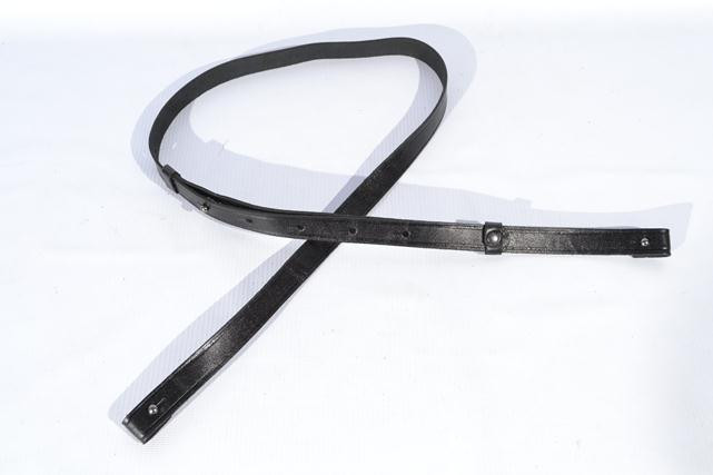 Лямка разгрузочная кожаная черная 5016/1