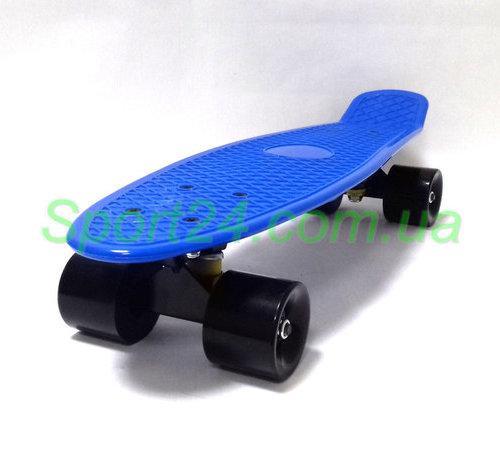 Синий пенни борд 22 (penny board 22, PU амортизаторы) до 80 кг