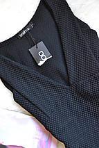 Новое черное фактурное платье с декольте Boohoo, фото 3