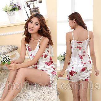 Атласная пижама FLOWER  (38 размер,  размер XS ), фото 2
